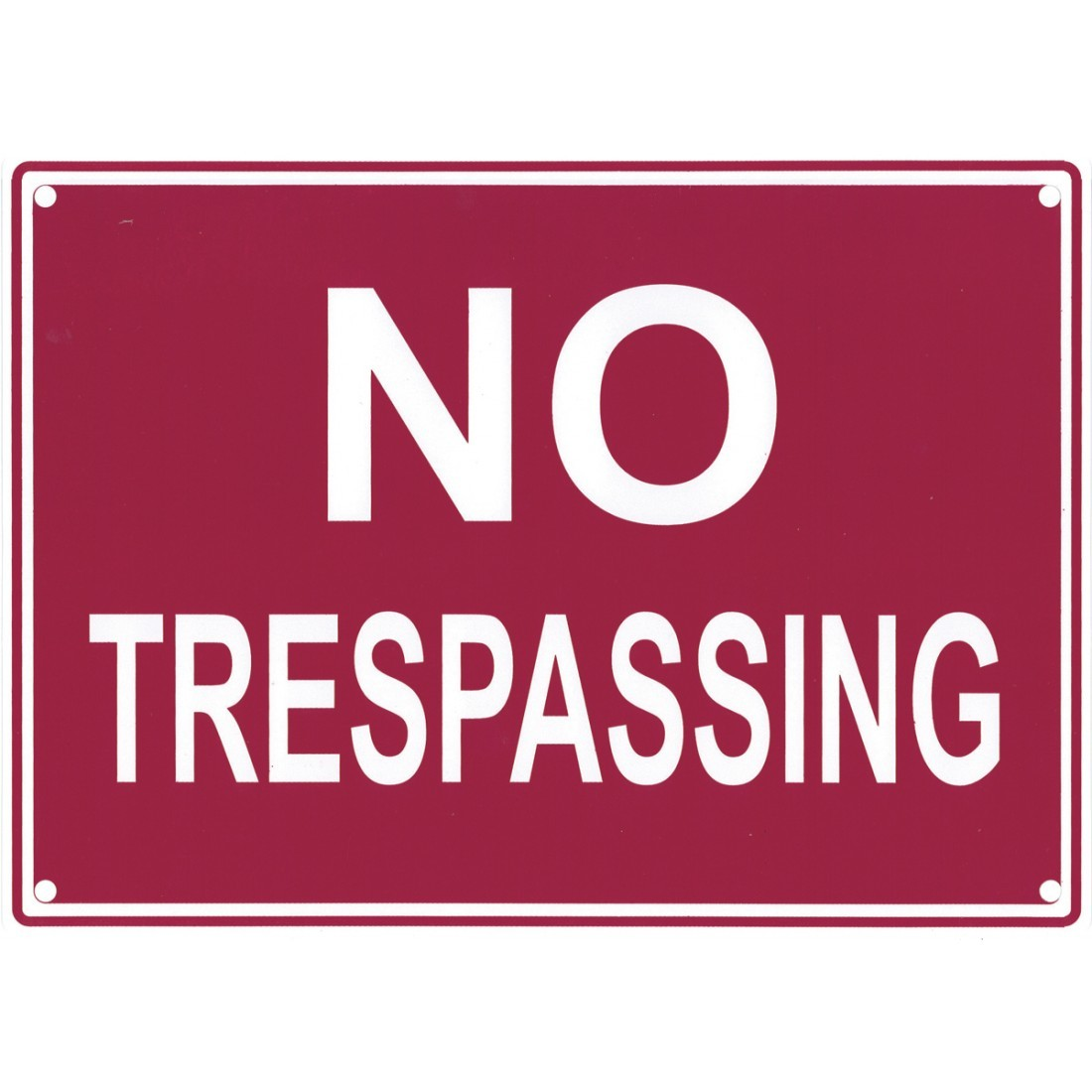 photograph about Printable No Trespassing Sign titled Signage - No Tresping