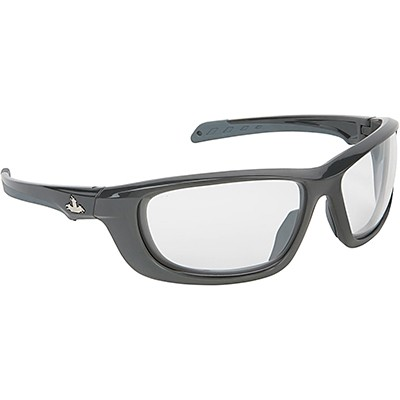 Black Frame USS Defense Safety Glasses with Clear MAX6 Anti-Fog Lens