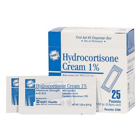 HYDROCORTISONE CREAM, HART, 0 9GM, 25/BOX