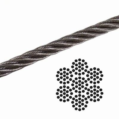 375 0250 7x19 Galvanized Aircraft Cable